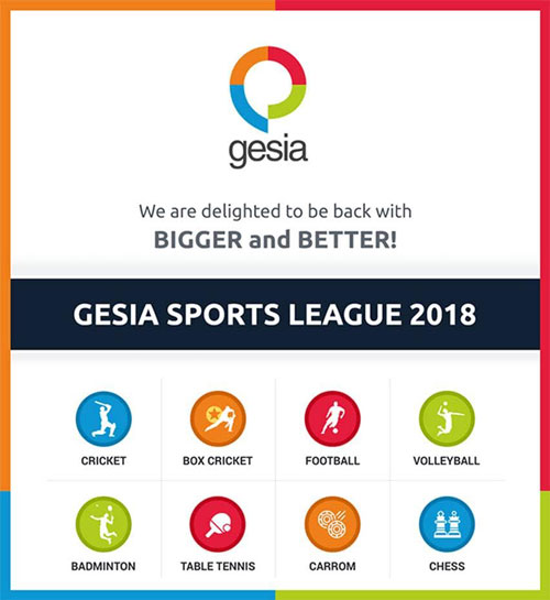 GESIA Sports League 2018