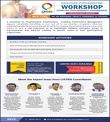 Workshop on Psychometric Assessment - Enabling Performance